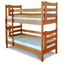 Двухъярусная детская кровать ТМ Лев - Санта 80 х 200 (бук)