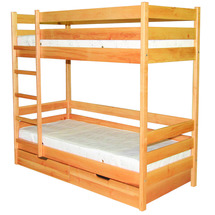 Двоярусне дитяче ліжко ТМ Лев - Барні 80 х 200 (бук)