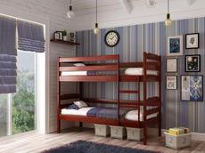 Двоярусне ліжко дитяче ТМ Лев - Мілена-2 80 х 200 (бук)