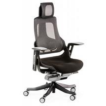 Кресло офисное Special4You - WAU BLACK FABRIC, CHARCOAL NETWORK (E0789)