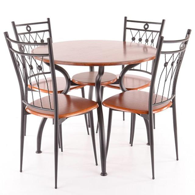 Столовий комплект круглий SIGNAL - Ambrozja I