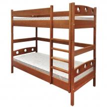 Двухъярусная детская кровать Пурий-Мастер - Мелася - 90х200 (бук)