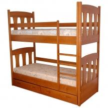 Двухъярусная детская кровать Пурий-Мастер - Малыш - 80x200 (бук)