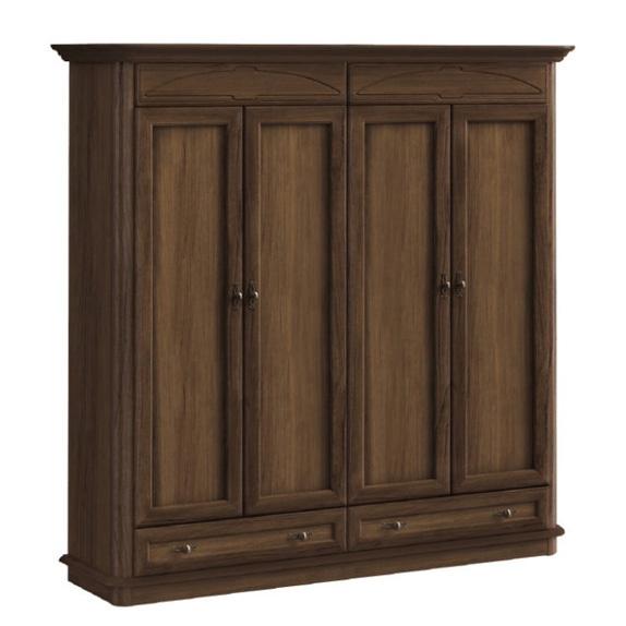 Шкаф 4-х дверный MEBIN - Afrodyta II - 4D2SZ prosta