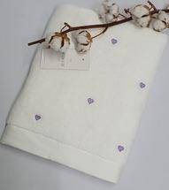 Полотенце махровое Maison D'or Love 50x100 White/Dark Lilak