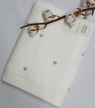Полотенце махровое Maison D'or Love 50x100 White/Blue