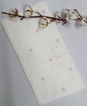 Полотенце махровое Maison D'or Love 50x100 White/Pink