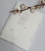 Полотенце махровое Maison D'or Love 85x150 White/Pink
