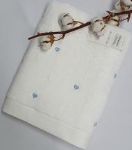 Полотенце махровое Maison D'or Love 85x150 White/Blue