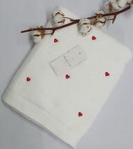 Полотенце махровое Maison D'or Love 85x150 White/Red