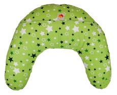 Подушка Лежебока для годування з малюнком Зірки на зеленому