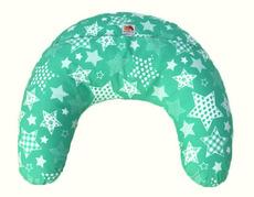 Подушка Лежебока для годування з малюнком Зелені зірки
