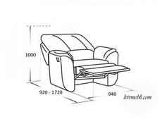 Шкіряне крісло Vero - Anturio - Fotel RF