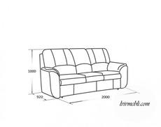 Шкіряний диван Vero - Anturio - Sofa 3