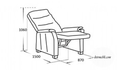 Шкіряне крісло Vero - Narciso - Fotel RF