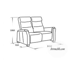 Шкіряний диван Vero - Narciso - Sofa 2