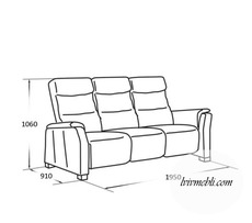 Шкіряний диван Vero - Narciso - Sofa 3