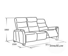 Шкіряний диван Vero - Narciso - Sofa 3RF