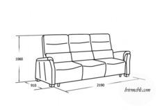 Шкіряний диван Vero - Narciso - Sofa 3RG
