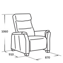 Шкіряне крісло Vero - Narciso Bianco - Fotel