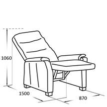 Шкіряне крісло Vero - Narciso Bianco - Fotel RF