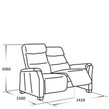 Шкіряний диван Vero - Narciso Bianco - Sofa 2RF