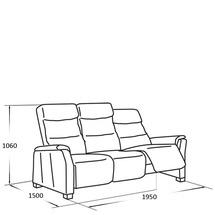 Шкіряний диван Vero - Narciso Bianco - Sofa 3RF