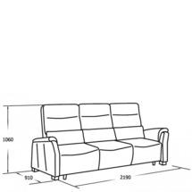 Шкіряний диван Vero - Narciso Bianco - Sofa 3RG
