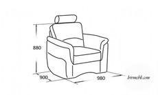 Шкіряне крісло Vero - Amarylis - Fotel