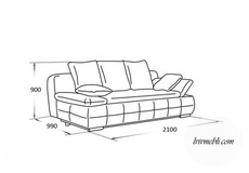 Шкіряний диван Vero - Iris - Sofa 3R