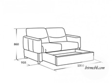 Шкіряний диван Vero - Primula - Sofa 2S
