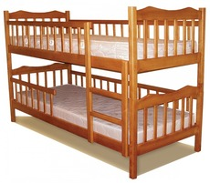 Двоярусне дитяче ліжко Дрімка - Рукавичка 80х190