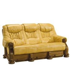 Шкіряний диван розкладний Pyka - CEZAR I - Sofa 3r