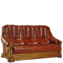 Шкіряний диван розкладний Pyka - FRYDERYK II - Sofa 3r