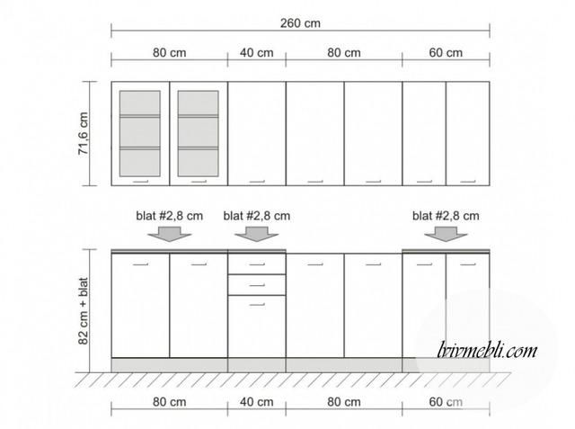 Кухня BRW - Nika Standard 260 Tafla (bialy)
