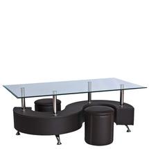 Журнальний столик скляний SIGNAL - Hugo